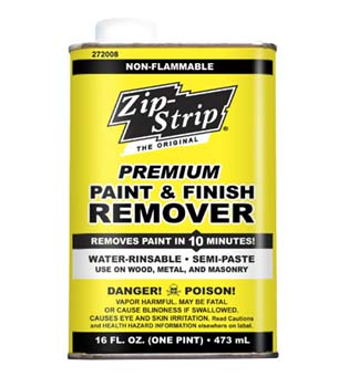 ZIP STRIP 272008 PREMIUM PAINT AND FINISH REMOVER SIZE:PINT PACK:6 PCS.