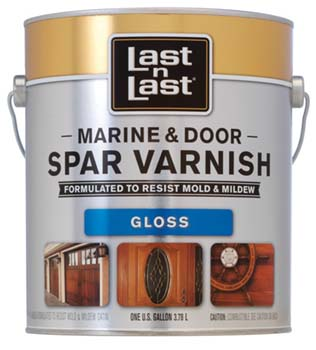 ABSOLUTE COATINGS 50701 LAST N LAST MARINE & DOOR SPAR VARNISH GLOSS SIZE:1 GALLON.