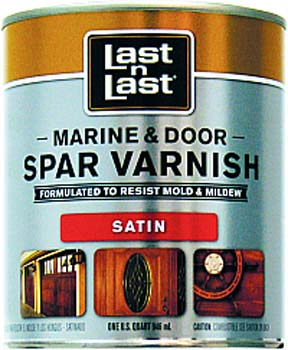 ABSOLUTE COATINGS 50804 LAST N LAST MARINE & DOOR SPAR VARNISH SATIN SIZE:QUART.