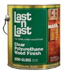 ABSOLUTE COATINGS 51001 LAST N LAST POLYURETHANE WOOD FINISH SEMI GLOSS SIZE:1 GALLON.
