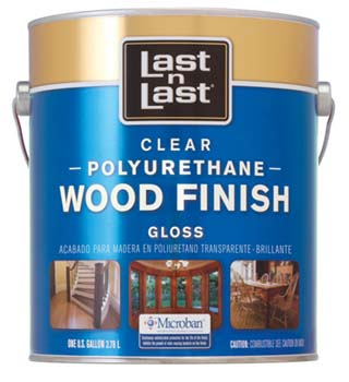 ABSOLUTE COATINGS 53001 LAST N LAST POLYURETHANE WOOD FINISH GLOSS 450 VOC SIZE:1 GALLON.