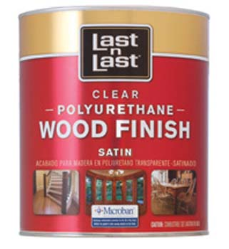 ABSOLUTE COATINGS 53104 LAST N LAST POLYURETHANE WOOD FINISH SATIN 450 VOC SIZE:QUART.
