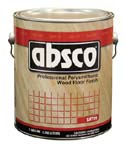ABSOLUTE COATINGS 89101 ABSCO POLYURETHANE WOOD FLOOR FINISH SATIN 450  VOC SIZE:1 GALLON.