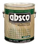 ABSOLUTE COATINGS 89201 ABSCO POLYURETHANE WOOD FLOOR FINISH SEMI GLOSS 450  VOC SIZE:1 GALLON.