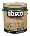 ABSOLUTE COATINGS 89521 ABSCO POLYURETHANE WOOD FLOOR FINISH SEMI GLOSS 350  VOC SIZE:1 GALLON.