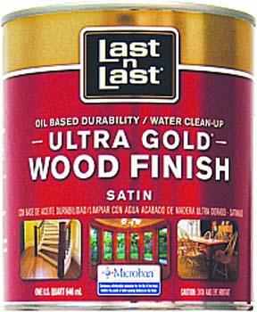 ABSOLUTE COATINGS 92104 LAST N LAST ULTRA GOLD WOOD FINISH SATIN 275 VOC SIZE:QUART.