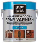ABSOLUTE COATINGS 94001 LAST N LAST MARINE & DOOR SPAR VARNISH GLOSS 275 VOC SIZE:1 GALLON.