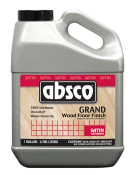 ABSOLUTE COATINGS 95101 ABSCO GRAND WOOD FLOOR FINISH SATIN 275 VOC SIZE:1 GALLON.