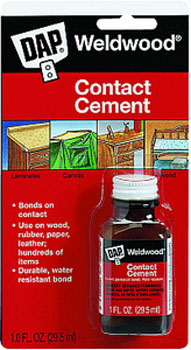 DAP 00102 WELDWOOD CONTACT CEMENT SIZE:1 OZ PACK:12 PCS.