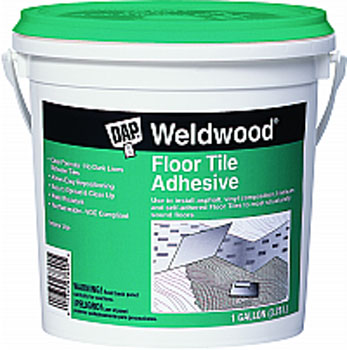 DAP 00137 WELDWOOD FLOOR TILE ADHESIVE CLEAR SIZE:1 GALLON.
