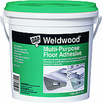 DAP 00142 WELDWOOD MULTI PURPOSE FLOOR ADHESIVE SIZE:1 GALLON.