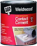 DAP 00272 WELDWOOD ORIGINAL CONTACT CEMENT SIZE:QUART.