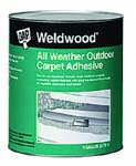 DAP 00443 WELDWOOD ALL WEATHER OUTDOOR CARPET ADHESIVE SIZE:1 GALLON.