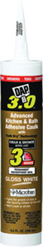 DAP 00790 3.0 KITCHEN BATH & PLUMBING HIGH PERFORMANCE SEALANT WHITE SIZE:9 OZ PACK:12 PCS.