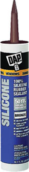 DAP 08647 WINDOW & DOOR 100% SILICONE RUBBER SEALANT BRONZE SIZE:10.1 OZ PACK:12 PCS.