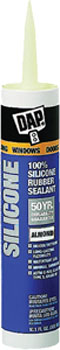 DAP 08649 WINDOW & DOOR 100% SILICONE RUBBER SEALANT ALMOND SIZE:10.1 OZ PACK:12 PCS.