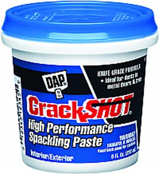DAP 12374 CRACKSHOT HIGH PERFORMANCE SPACKLING PASTE SIZE:0.5 PINT.