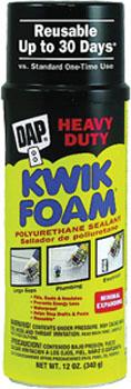 DAP 18230 KWIK FOAM POLYURETHANE INSULATING FOAM SEALANT SIZE:12 OZ PACK:12 PCS.