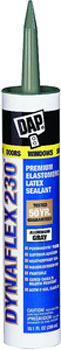 DAP 18286 DYNAFLEX 230 PREMIUM ELASTOMERIC LATEX SEALANT ALUMINUM GREY SIZE:10.3 OZ PACK:12 PCS.