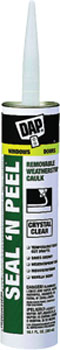 DAP 18354 SEAL N' PEEL REMOVABLE WEATHERSTRIP CAULK CLEAR SIZE:10.1 OZ PACK:20 PCS.