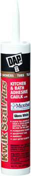 DAP 18510 KWIK SEAL PLUS PREMIUM KITCHEN & BATH ADHESIVE SEALANT WITH MICROBAN WHITE SIZE:10.1 OZ PACK:12 PCS.
