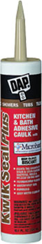 DAP 18519 KWIK SEAL PLUS PREMIUM KITCHEN & BATH ADHESIVE SEALANT WITH MICROBAN BISCUIT SIZE:10.1 OZ PACK:12 PCS.