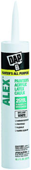 DAP 18670 ALEX PAINTERS CAULK ACRYLIC LATEX WHITE SIZE:10.1 OZ PACK:12 PCS.
