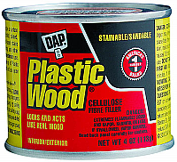 DAP 21502 PLASTIC WOOD SOLVENT WOOD FILLER NATURAL SIZE:4 OZ PACK:12 PCS.