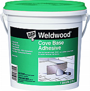 DAP 25054 WELDWOOD COVE BASE ADHESIVE SIZE:1 GALLON.