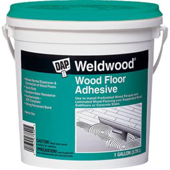 DAP 25133 WELDWOOD WOOD FLOOR ADHESIVE SIZE:1 GALLON.