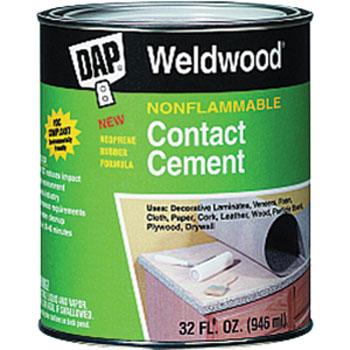 DAP 25332 WELDWOOD NONFLAMMABLE CONTACT CEMENT SIZE:QUART.
