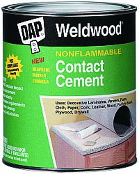 DAP 25336 WELDWOOD NONFLAMMABLE CONTACT CEMENT SIZE:1 GALLON.
