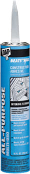 DAP 25484 BEATS THE NAIL ALL PURPOSE CONSTRUCTION ADHESIVE GRAY SIZE:28 OZ PACK:12 PCS.