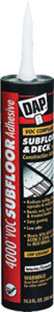 DAP 27030 4000 VOC-COMPLIANT SUBFLOOR & DECK CONSTRUCTION ADHESIVE SIZE:10.3 OZ PACK:12 PCS.