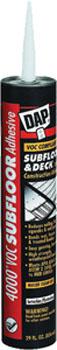 DAP 27038 4000 VOC-COMPLIANT SUBFLOOR & DECK CONSTRUCTION ADHESIVE SIZE:28 OZ PACK:12 PCS.