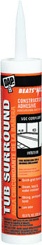 DAP 27420 BEATS THE NAIL TUB SURROUND & SHOWER WALL VOC-COMPLIANT CLEAR SIZE:10.3 OZ PACK:12 PCS.