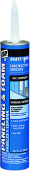 DAP 27425 BEATS THE NAIL PANELING & & FOAM VOC-COMPLIANT CONSTRUCTION ADHESIVE SIZE:10.3 OZ PACK:12 PCS.