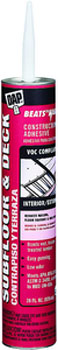 DAP 27438 BEATS THE NAIL VOC-COMPLIANT SUBFLOOR & DECK TAN SIZE:28 OZ PACK:12 PCS.