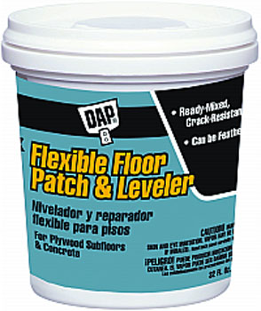 DAP 59184 FLEXIBLE FLOOR PATCH AND LEVELER (RTU) SIZE:QUART.
