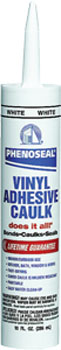 DAP 00005 PHENOSEAL DOES IT ALL VINYL ADHESIVE CAULK WHITE SIZE:10 OZ PACK:12 PCS.