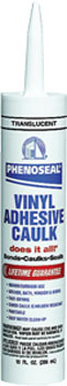 DAP 00006 PHENOSEAL DOES IT ALL VINYL ADHESIVE CAULK TRANSLUCENT SIZE:10 OZ PACK:12 PCS.