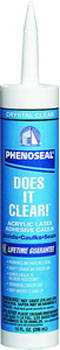 DAP 00602 PHENOSEAL DOES IT ALL VINYL ADHESIVE CAULK CLEAR SIZE:10 OZ PACK:12 PCS.