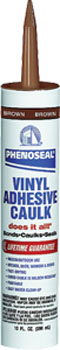 DAP 09102 PHENOSEAL DOES IT ALL VINYL ADHESIVE CAULK BROWN SIZE:10 OZ PACK:12 PCS.