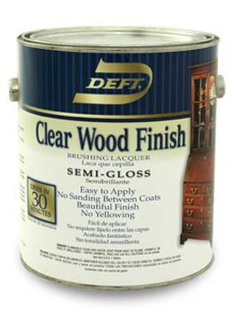 DEFT 01101 SEMI GLOSS CLEAR WOOD FINISH SIZE:1 GALLON.