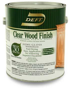 DEFT 10801 SEMI GLOSS WATERBORNE BASED CLEAR WOOD FINISH SIZE:1 GALLON.