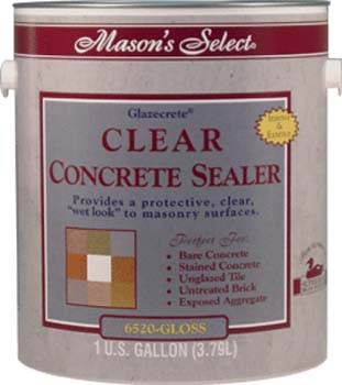 DUCKBACK DB-6520-4 CLEAR GLOSS MASON SELECT CONCRETE SEALER SIZE:1 GALLON.