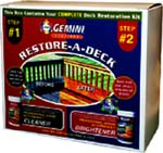 GEMINI 895 RESTORE-A-DECK CLEANER & BRIGHTENER SIZE:KIT.
