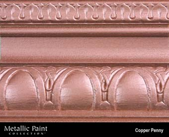 MODERN MASTERS METALLIC PAINT 57901 ME-579 COPPER PENNY SIZE:1 GALLON.