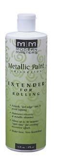 MODERN MASTERS METALLIC PAINT 99602 ME-651 ROLLING EXTENDER SIZE:16 OZ.