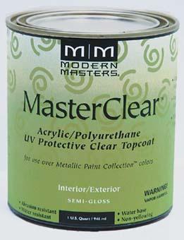 MODERN MASTERS METALLIC PAINT 66232 ME-662 MASTER CLEAR SEMI GLOSS SIZE:QUART.
